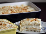 Cream Cheese Layered Biscuit Pudding