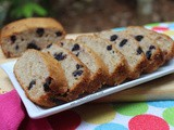Egg less Banana and Blueberry Loaf Cake