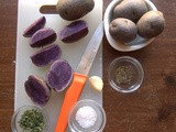 Day 205  - Roasted Thyme Blue Potatoes