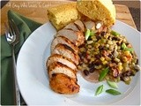 Black Bean Maque Choux with Cajun Chicken