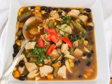 Chicken and Black Bean Vegetable Soup