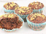 Chocolate Avocado Walnut Muffins #MuffinMonday