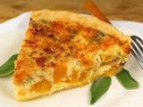 Fresh Pumpkin Quiche with Bacon and Sage #PumpkinWeek