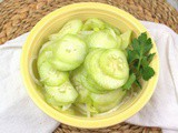 Marinated Cucumber Salad – a Summertime Favorite