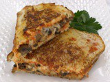 Mushroom Pizza Grilled Cheese