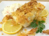 Potato Chip Crusted Salt and Vinegar Baked Cod #FoodieExtravaganza