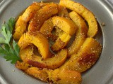 Roasted Pumpkin Wedges with Honey, Sesame and Sumac