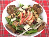 Salad with Cranberry, Pear, Walnuts & Gorgonzola for #CranberryWeek