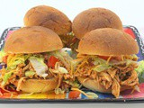 Slow Cooker Fiesta Chicken Sandwiches