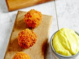A Taste of Ireland: Tasty left over roast Turkey or Chicken balls with Cashel Blue Cheese Mayonnaise Tapas