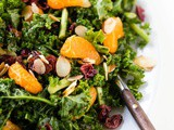 Autumn Kale Salad with Mandarin Orange Vinaigrette