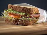 Avocado Sprout Ham Sandwich