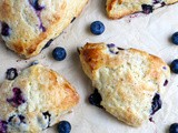 Homemade Blueberry Scones with Buttermilk