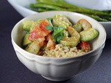 Pearl Couscous with Shrimp Salsa