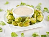 Roasted Brussels Sprouts with Spicy Mayo