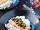 Roasted Salmon Olive Tapenade