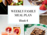 Weekly Family Meal Plan Week 4