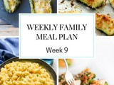 Weekly Family Meal Plan Week 9