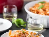 White Wine Pasta with Tomato Sauce