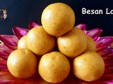 Besan Ladoos without Sugar / Besan Laddu: Diwali Special Recipe Series