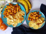 Potato Katri Fryums in an Air Fryer | Sun-dried Potato Chips | How to Make Homestyle Crispy Aloo Wafers