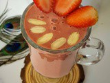 Strawberry Smoothie | Vegan Strawberry Smoothie No Banana | Dairy-free Smoothies for Weight Loss