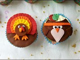 Thanksgiving Owl and Turkey Fondant Cupcake Tutorial