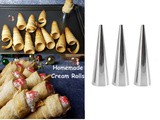 Unboxing and Review of Cream Roll Cones / Cream Horn Molds eurica