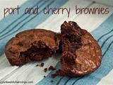 Port and cherry brownies