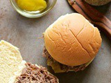 Tangy slow cooker pot roast sliders