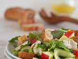 Turkey, apple and fennel bread salad