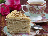 No baking: Quick Biscuits Cake With Cappuccino Flavor