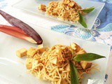 Noodles with banana blossom and tofu