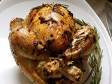 Roasted Chicken with Garlic Butter and Vegetables