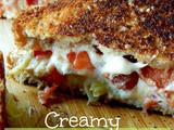 Creamy Tomato, Bacon and Artichoke Grilled Cheese