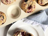 Triple Berry Sour Cream Muffins