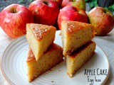 Egg less Apple Snack Cake