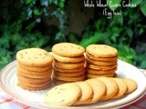 Whole Wheat Cumin Cookies - Jeera Biscuits | Egg less baking