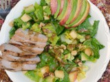 Applewood Smoked Pork, Apple & Walnut Salad #cookoutweek