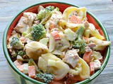 Chicken, Bacon, Ranch Tortellini Pasta Salad