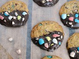Chocolate Dipped Robin's Egg Cookies #EasterRecipes