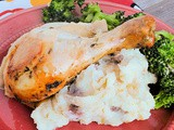 Herby Chicken with Onion-Garlic Mashed Potatoes