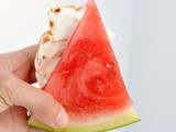 Ice Cream Stuffed Watermelon Wedges