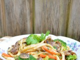 Japanese Pan Noodles with Steak #FoodnFlix