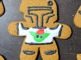 Mandalorian Gingerbread Men with Baby Yoda Sweaters