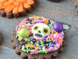 Mexican Hot Chocolate Sugar Skull Cookies #Choctoberfest