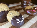 Mini Dipped Chocolate Chip Cookies