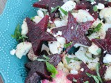 Patriotic Cauliflower and Beet Salad