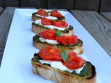 Pesto & Roasted Tomato Crostini