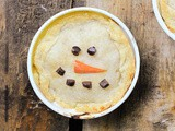 Snowman Chicken Pot Pies